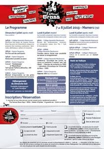 Programme et formulaire de réservation édition 2019